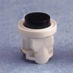 D6421 Button - Hvid Ringeknap M/ lys varenr. (D1202) Fås også i transparent m/hvid eller sort knap Antal pr. kolli: 36 stk. EAN: 5004100411389